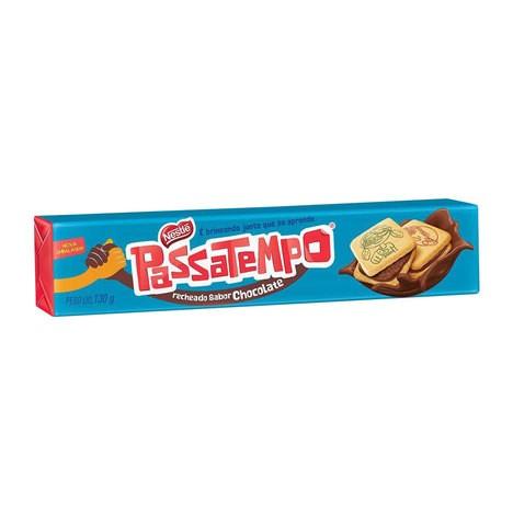 BISCOITO RECHEADO PASSATEMPO SABOR CHOCOLATE 130G