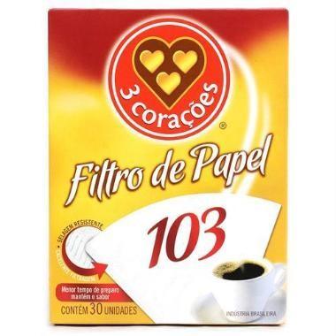 FILTRO DE PAPEL 3 CORAÇÕES 103 C/30
