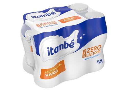 LEITE FERMENTADO ITAMBÉ ZERO LACTOSE SABOR BAUNILHA 450g