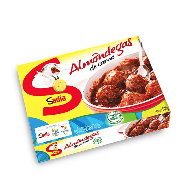 ALMÔNDEGAS CONGELADAS DE CARNE BOVINA SADIA 500G