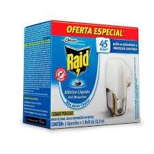 APARELHO ELÉTRICO + REFIL LÍQUIDO ANTI MOSQUITOS RAID   32.9mL