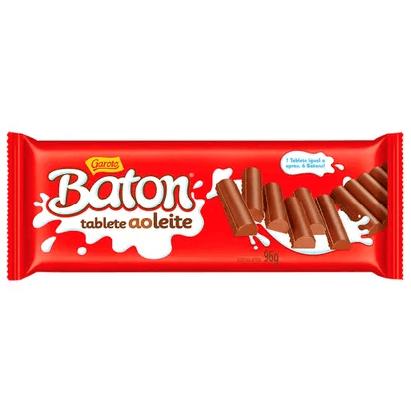 CHOCOLATE GAROTO BATON AO LEITE TABLETE 96G