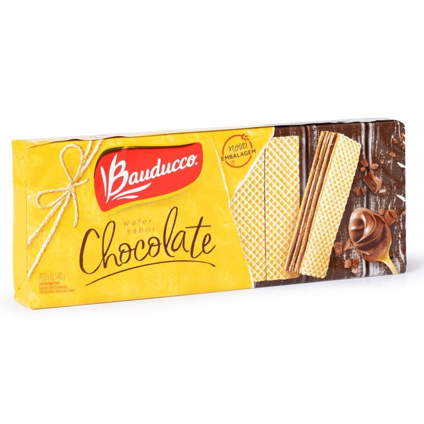 BISCOITO WAFER CHOCOLATE BAUDUCCO 140G