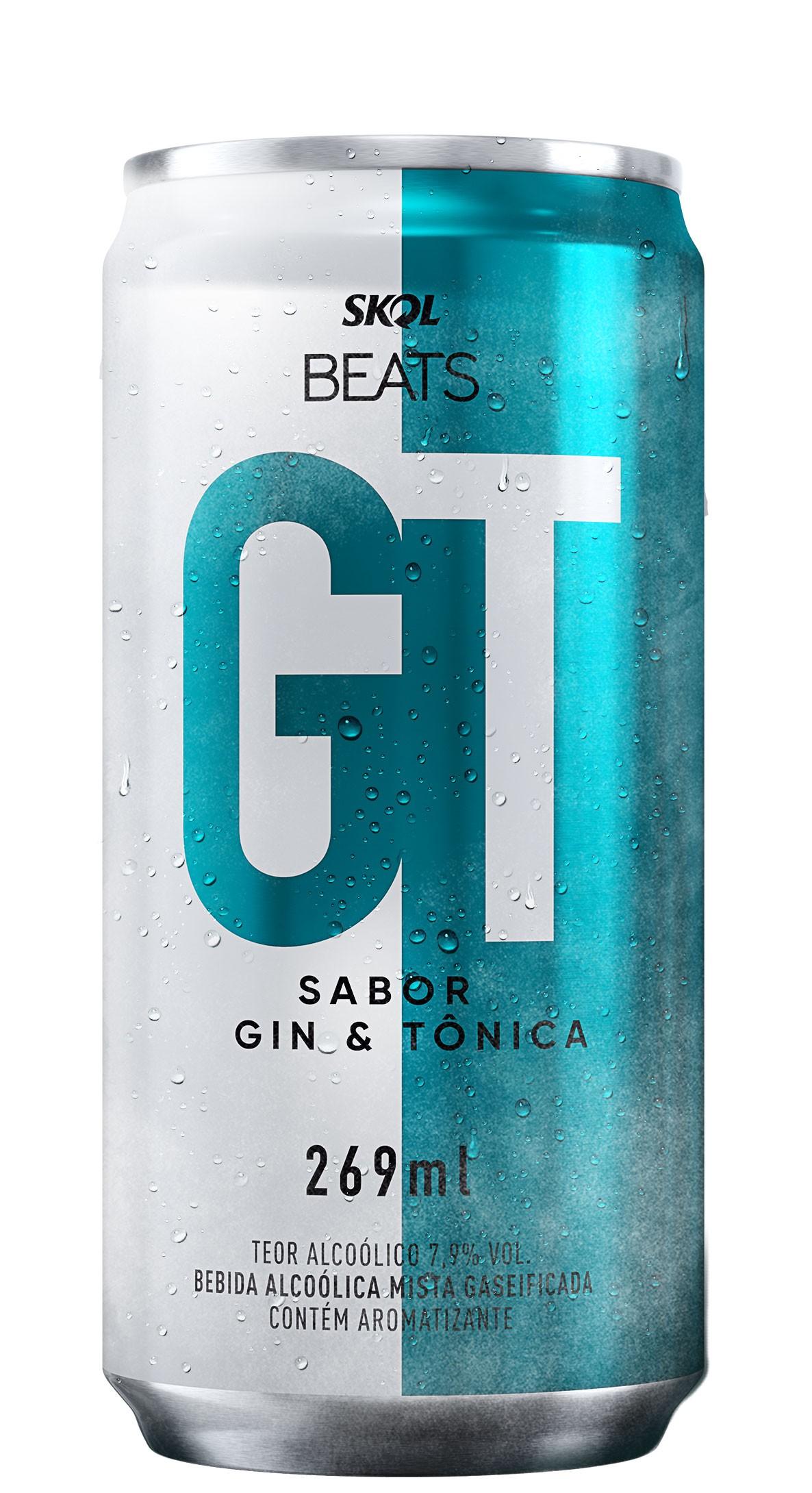CERVEJA SKOL BEATS GT  GIN E TÔNICA LT 269 ML ( GELADA)
