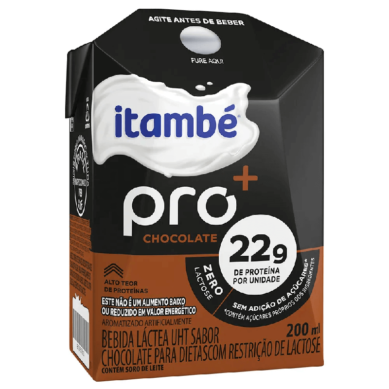 BEBIDA LÁCTEA ITAMBÉ PRO CHOCOLATE 200ML