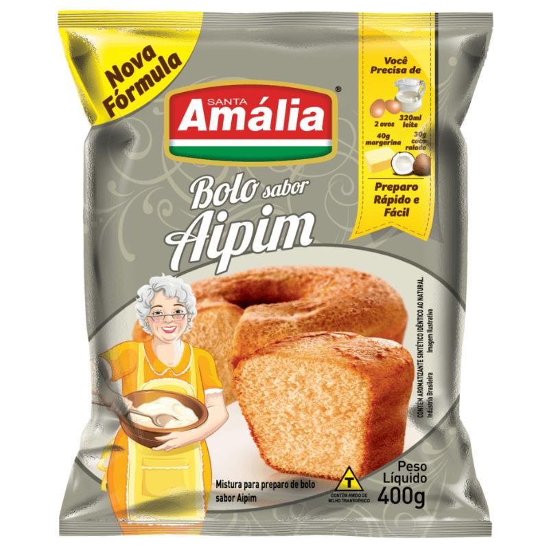 MISTURA PARA BOLO SANTA AMALIA AIPIM 400G