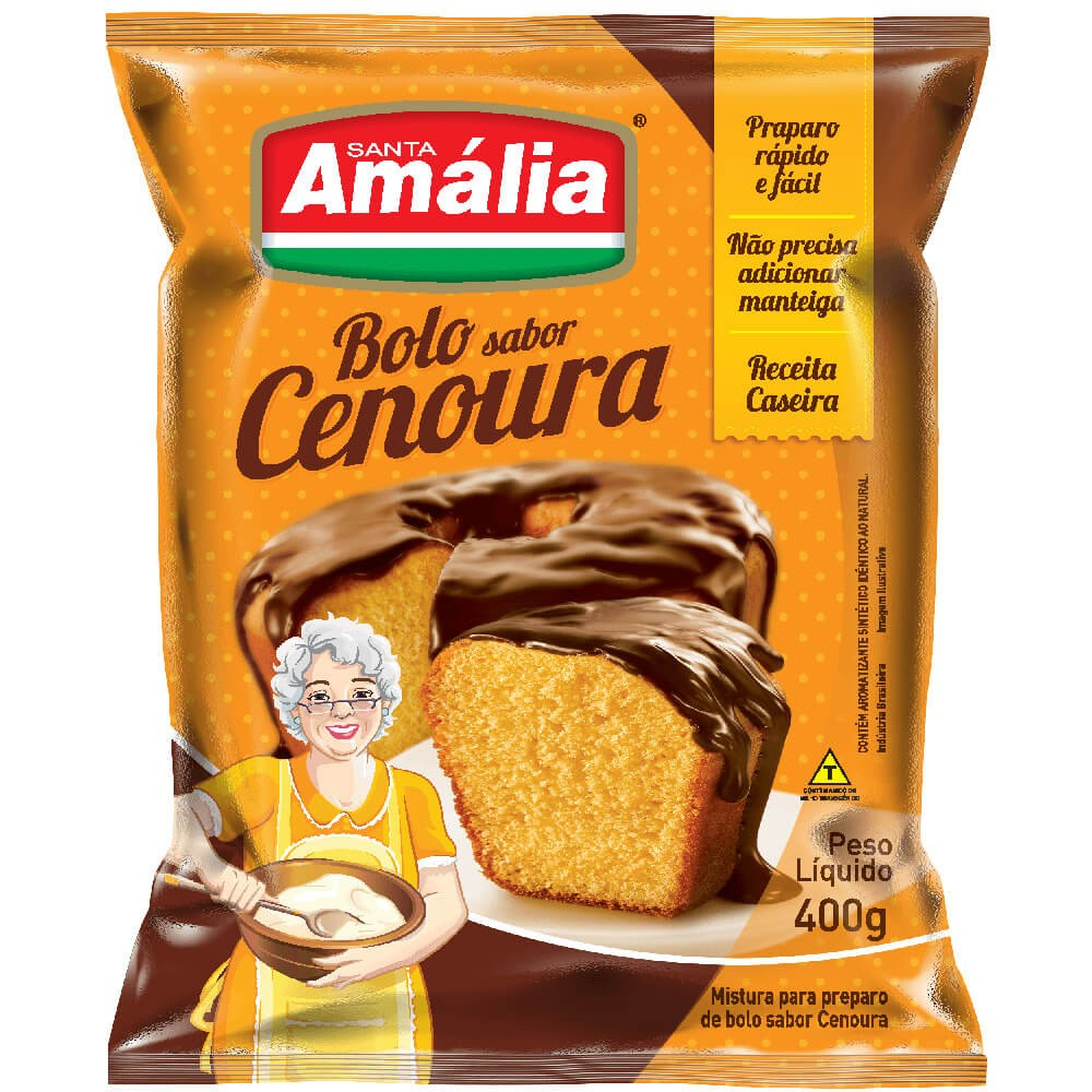 MISTURA PARA BOLO SANTA AMÁLIA CENOURA 400G