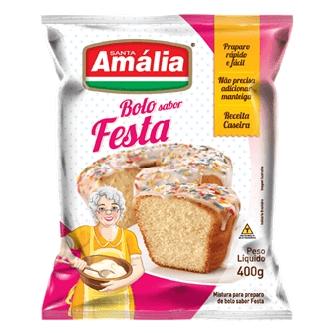 MISTURA PARA BOLO SANTA AMÁLIA FESTA 400G