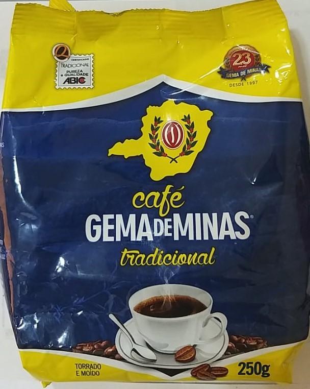 CAFÉ TRADICIONAL GEMA DE MINAS 250G