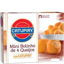 MINI BOLINHO 4 QUEIJOS COM CATUPIRY 300G
