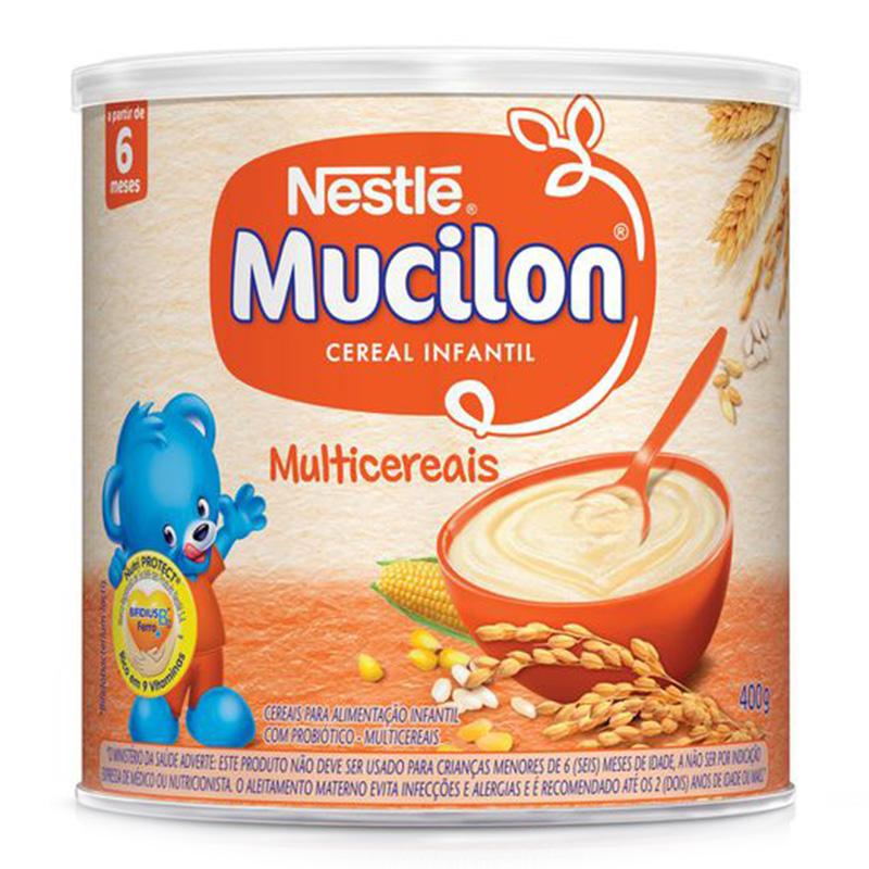 CEREAL INFANTIL MUCILON MULTICEREAIS NESTLÉ LATA 400G