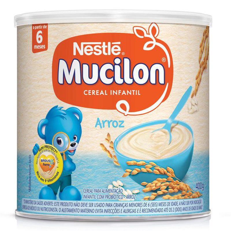 CEREAL INFANTIL MUCILON DE ARROZ NESTLÉ LATA 400G
