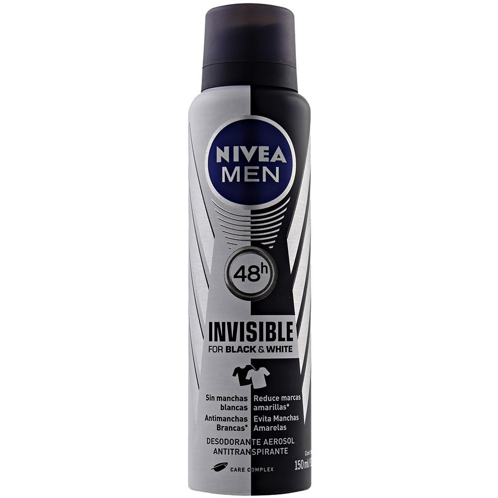 DESODORANTE AEROSOL NIVEA MEN INVISIBLE BLACK & WHITE 150ML