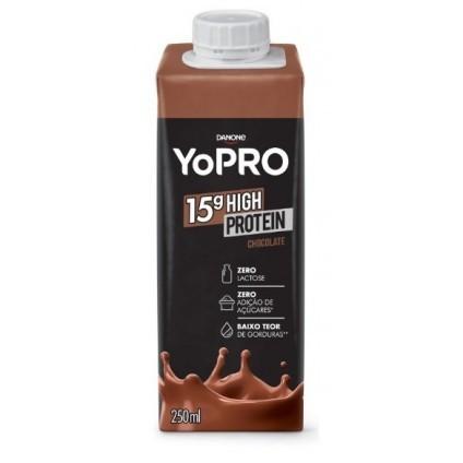 BEBIDA LÁCTEA YOPRO 15G PROTEÍNA CHOCOLATE  DANONE  250ML