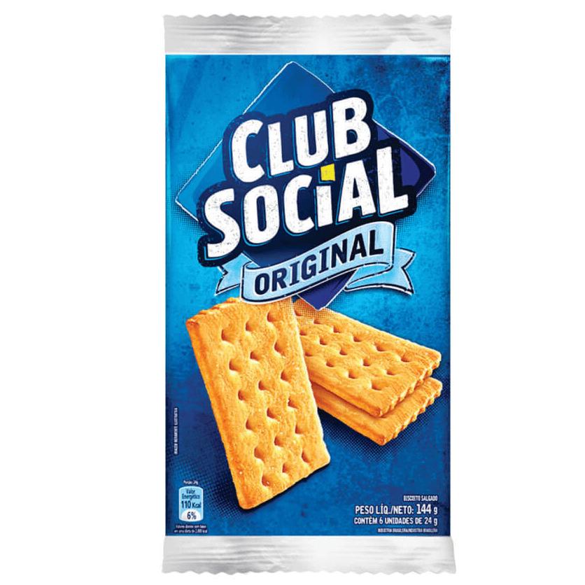 BISCOITO CLUB SOCIAL TRADICIONAL 144G