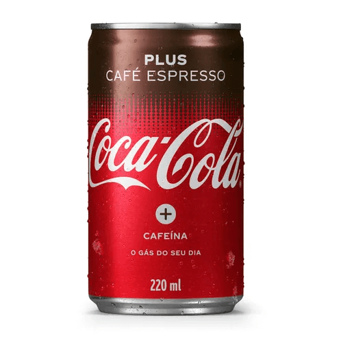REFRIGERANTE COCA-COLA PLUS CAFÉ LATA MINI 220ML ( GELADO)