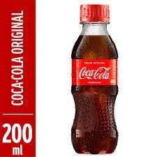 REFRIGERANTE COCA-COLA PET 200ML