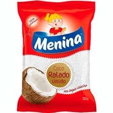 COCO RALADO MENINA ÚMIDO E ADOÇADO 100G