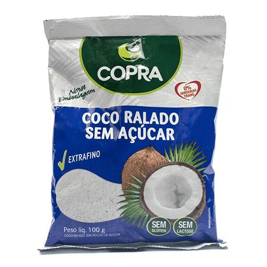 COCO RALADO SEM AÇÚCAR EXTRAFINO COPRA 100G
