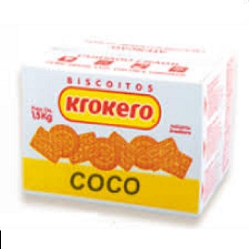 BISCOITO KROKERO  SORTIDO COCO CAIXA 1,5KG