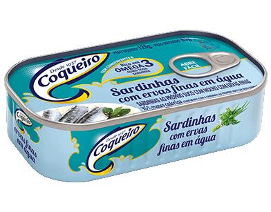 SARDINHA COM ERVAS FINAS COQUEIRO 125G