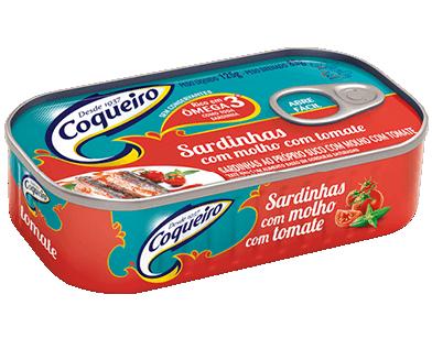 SARDINHA COM MOLHO DE TOMATE COQUEIRO 125G