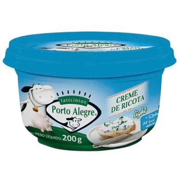 CREME DE QUEIJO RICOTA LIGHT PORTO ALEGRE 200G