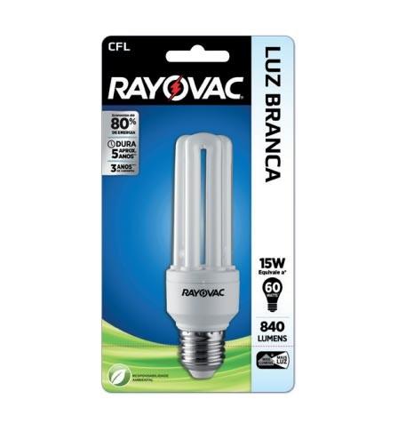 LAMPADA CFL RAYOVAC FLAT BCA 127V 15W