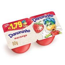 DANONINHO MORANGO PETIT SUISSE 80G C/ 2 UNIDADES