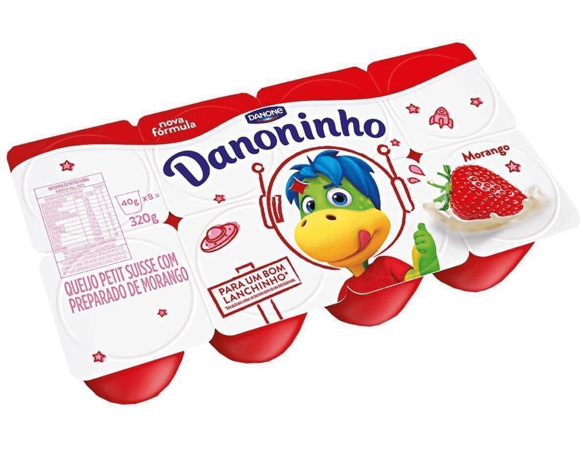 DANONINHO MORANGO PETIT SUISSE C/8 320G