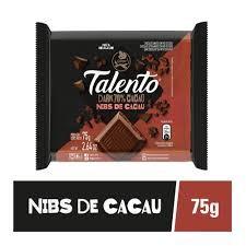 CHOCOLATE TALENTO DARK 70% CACAU 75G
