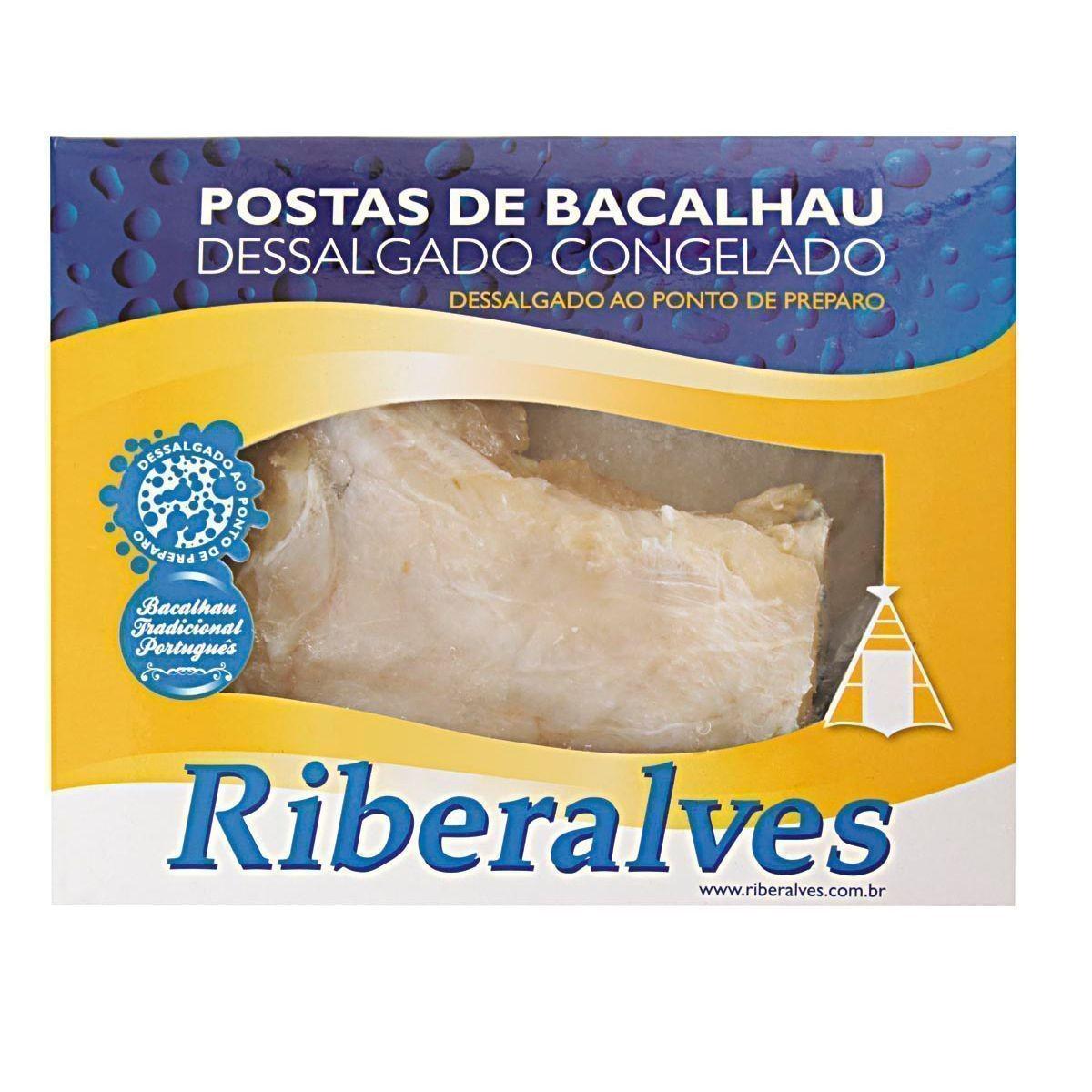POSTAS DE BACALHAU SAITHE DESSALGADAS RIBERALVES 800G
