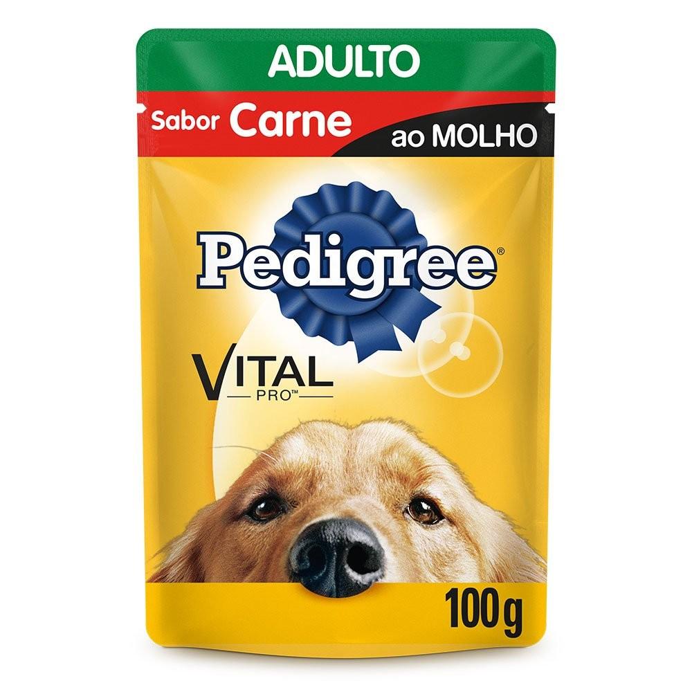 SACHÊ PEDIGREE ADULTO RAÇAS GRANDE CARNE AO MOLHO 100G