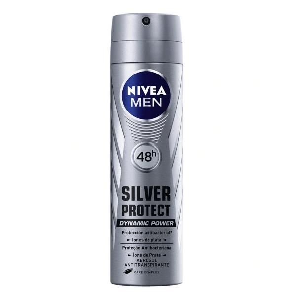 DESODORANTE AEROSOL NIVEA FOR MEN SILVER PROTECT 150ML