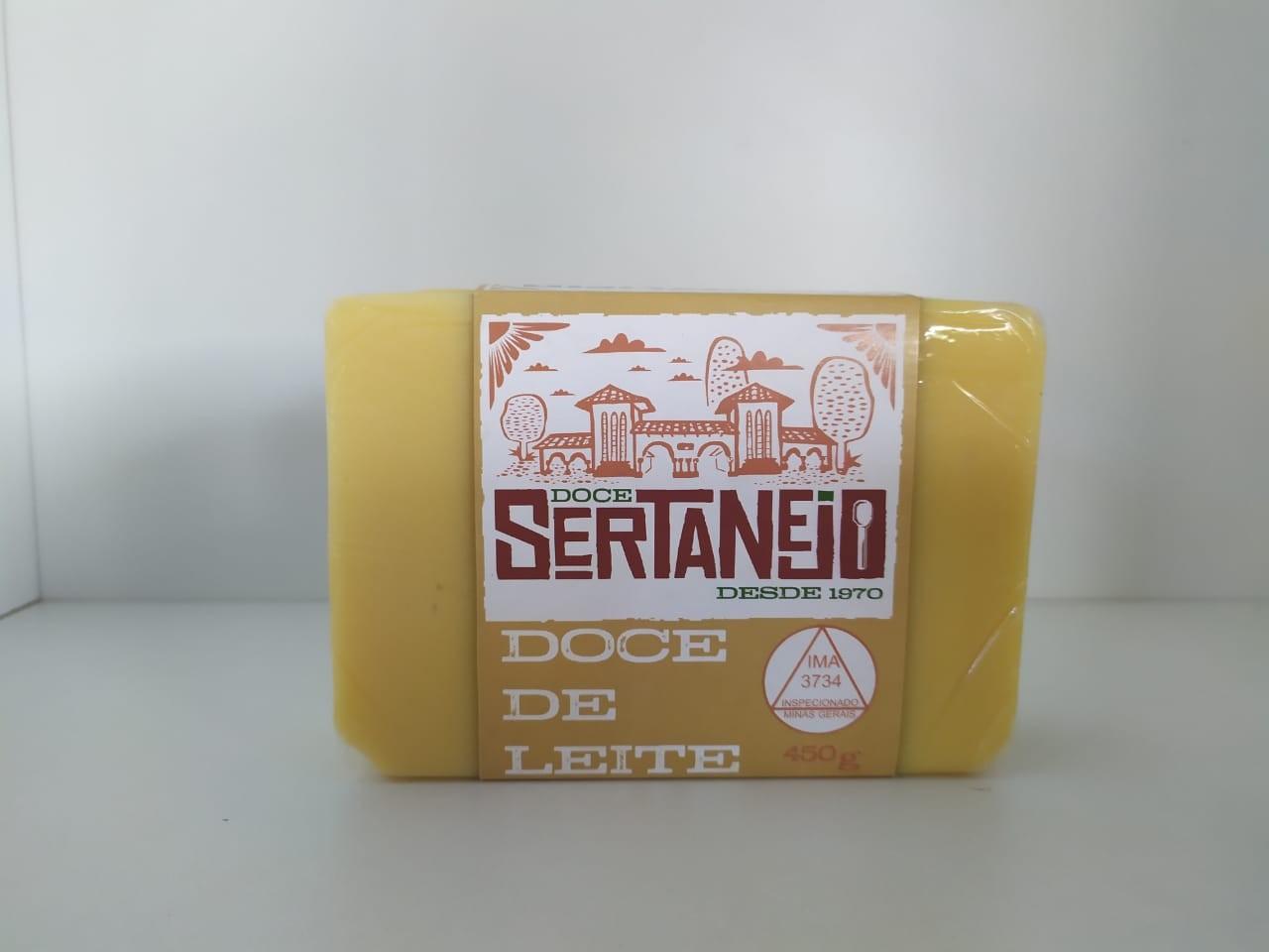 DOCE SERTANEJO DE LEITE EM BARRA 450G