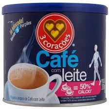 CAFÉ COM LEITE 3 CORAÇÕES  COM CÁLCIO 330G