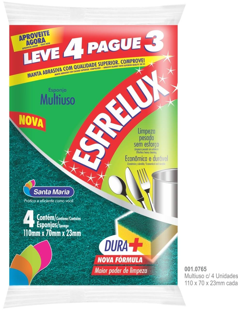 ESPONJA MULTIUSO ESFRELUX C/ 4 UNIDADES