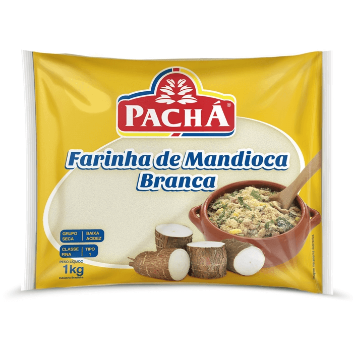 FARINHA DE MANDIOCA BRANCA PACHÁ 1KG