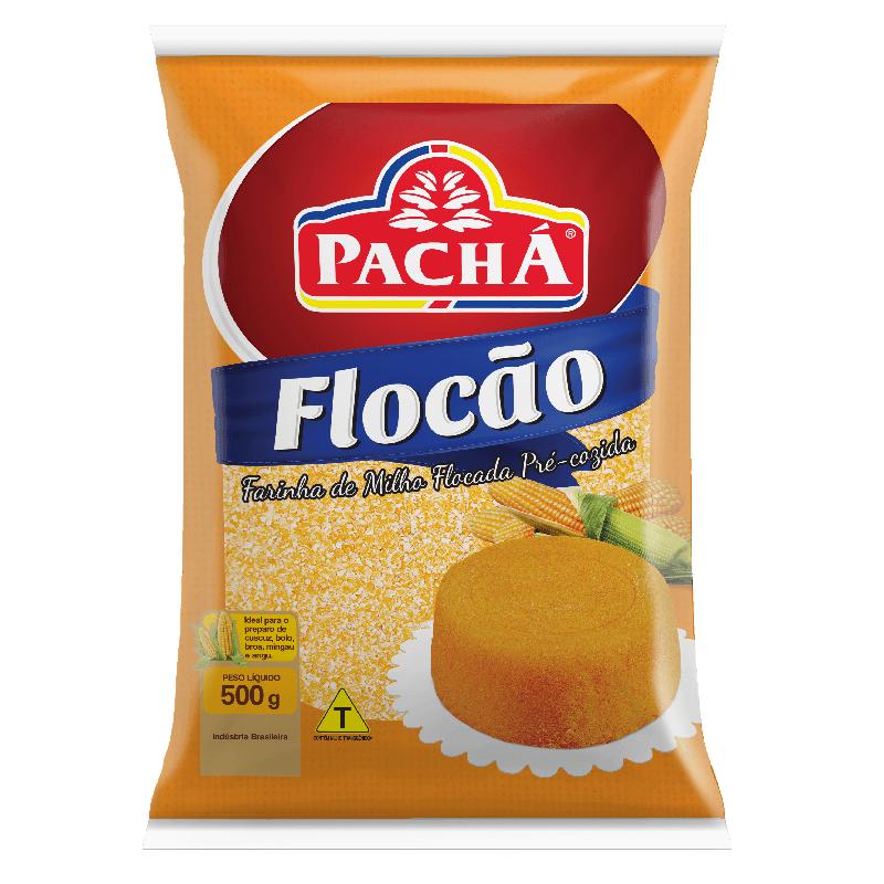 FARINHA DE MILHO FLOCADA FLOCÃO PACHÁ 500G
