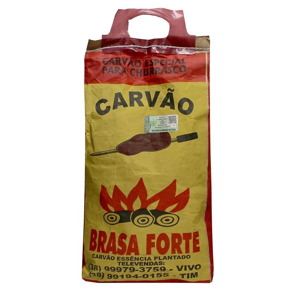 CARVÃO VEGETAL BRASA FORTE 3KG