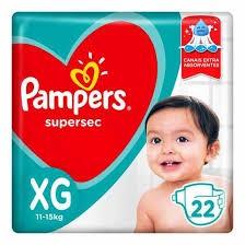 FRALDA DESCARTÁVEL PAMPERS SUPERSEC XG22