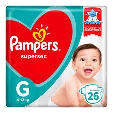 FRALDA DESCARTÁVEL PAMPERS SUPERSEC G26