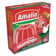 GELATINA SANTA AMÁLIA MORANGO 20G
