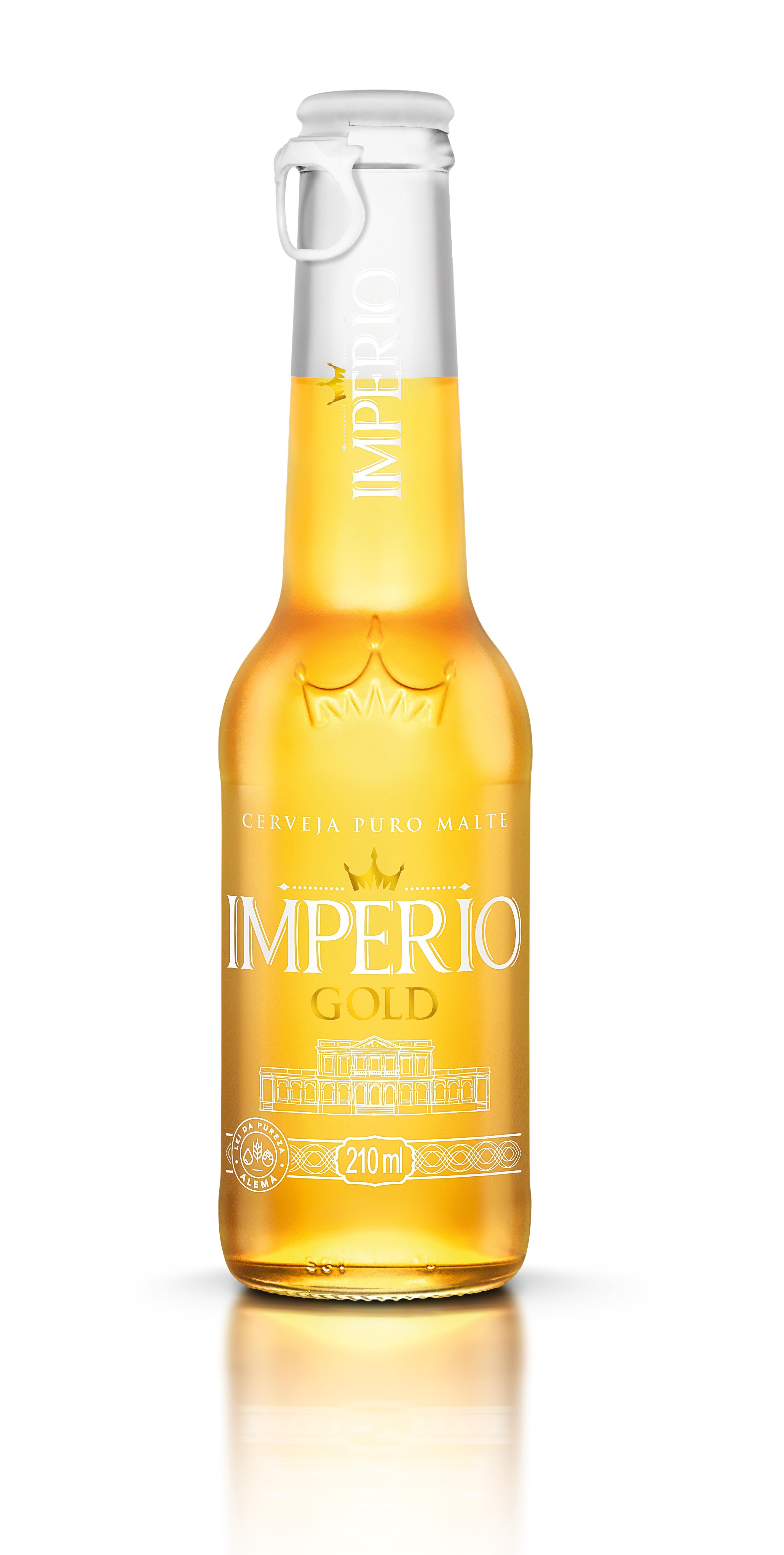 CERVEJA IMPERIO GOLD PURO MALTE LONG NECK 210ML UN