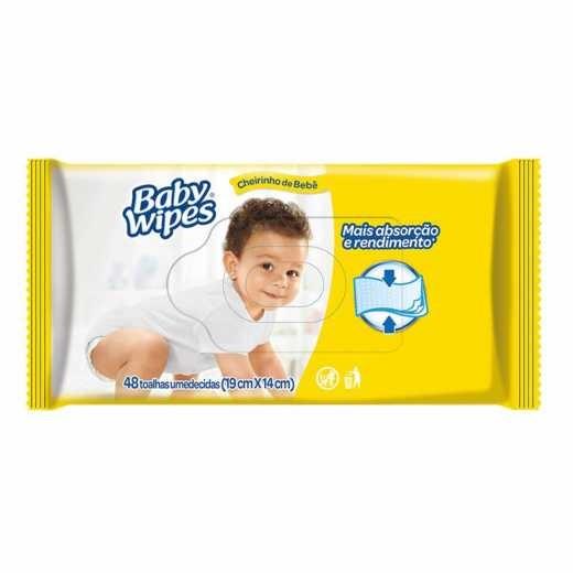 TOALHAS UMEDECIDAS BABY WIPES 48 UN