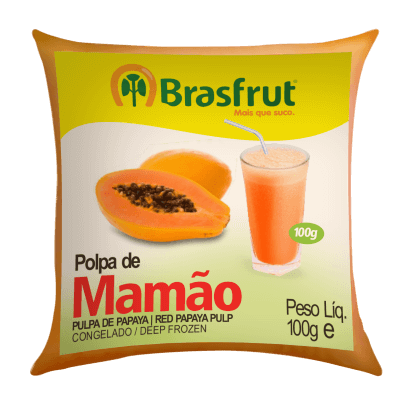 POLPA DE MAMÃO BRASFRUT 100G