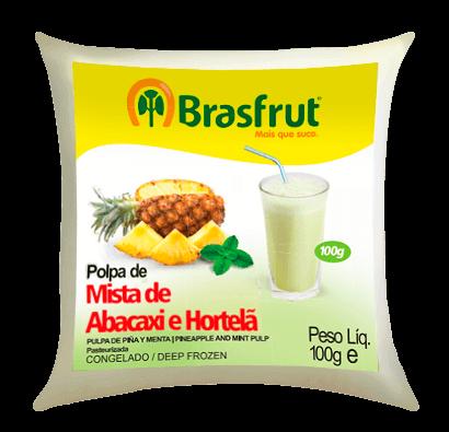 POLPA MISTA ABACAXI E HORTELÃ BRASFRUT 100G