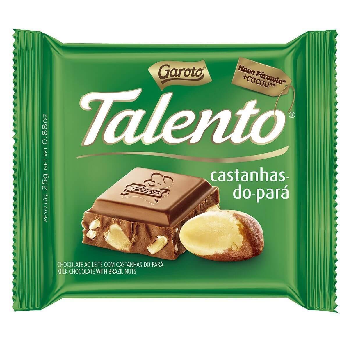 CHOCOLATE TALENTO CASTANHA-DO-PARÁ 90G