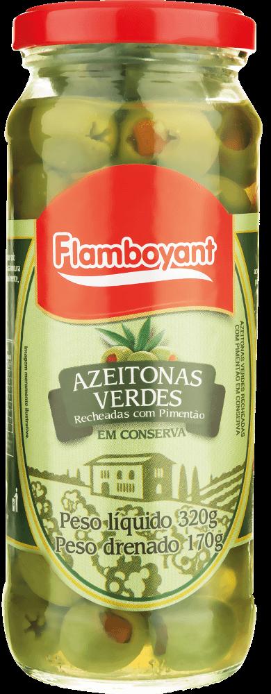 AZEITONA VERDE FATIADA FLAMBOYANT 170G