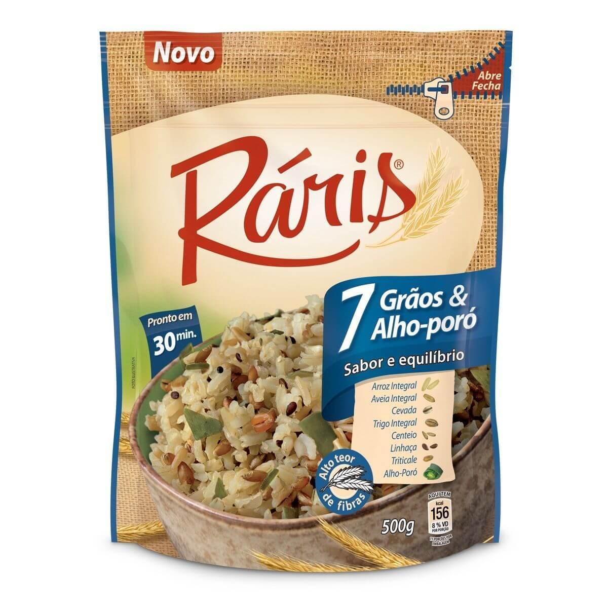 ARROZ RARIS 7 GRÃOS & ALHO PORÓ 500G